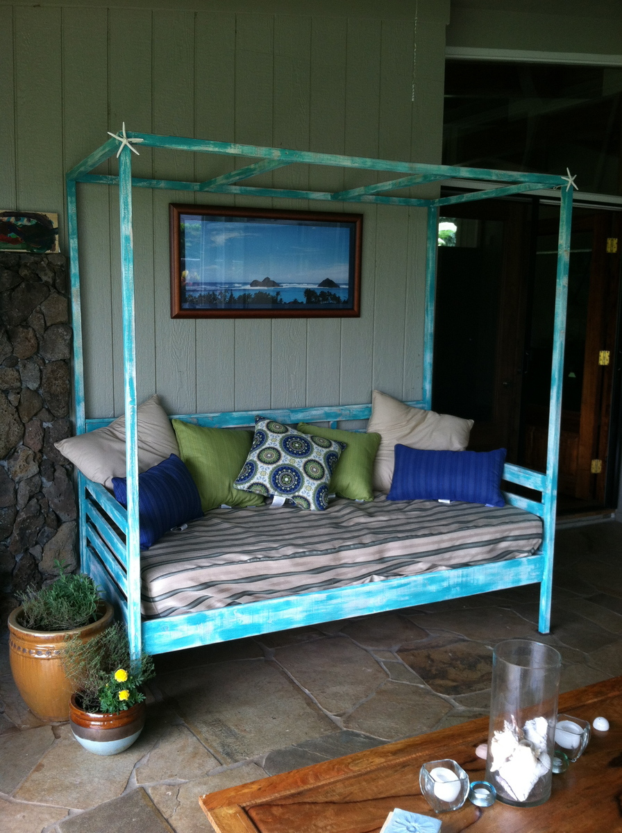 Ana White Outdoor Day Bed With Canopy Diy Projects