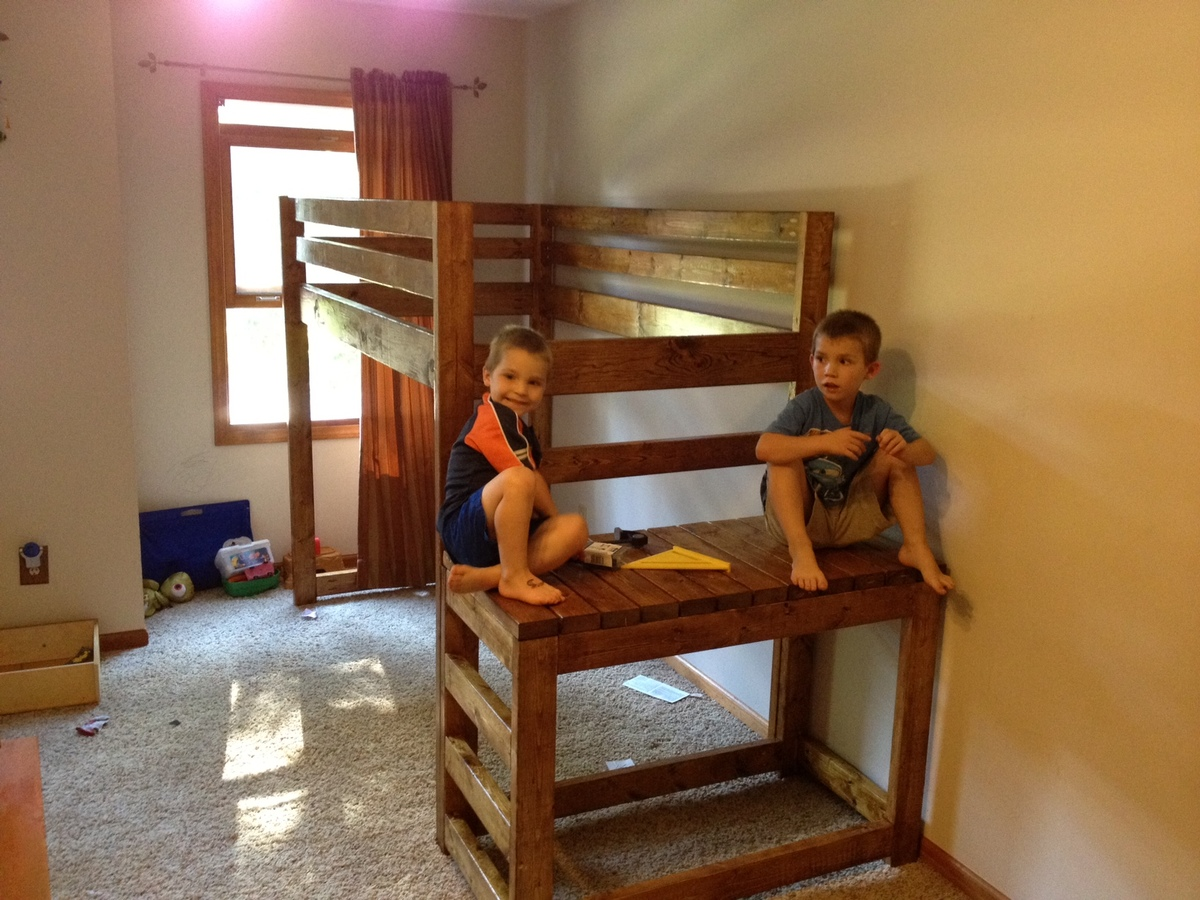 Double Wide Camp Loft Bed Ana White