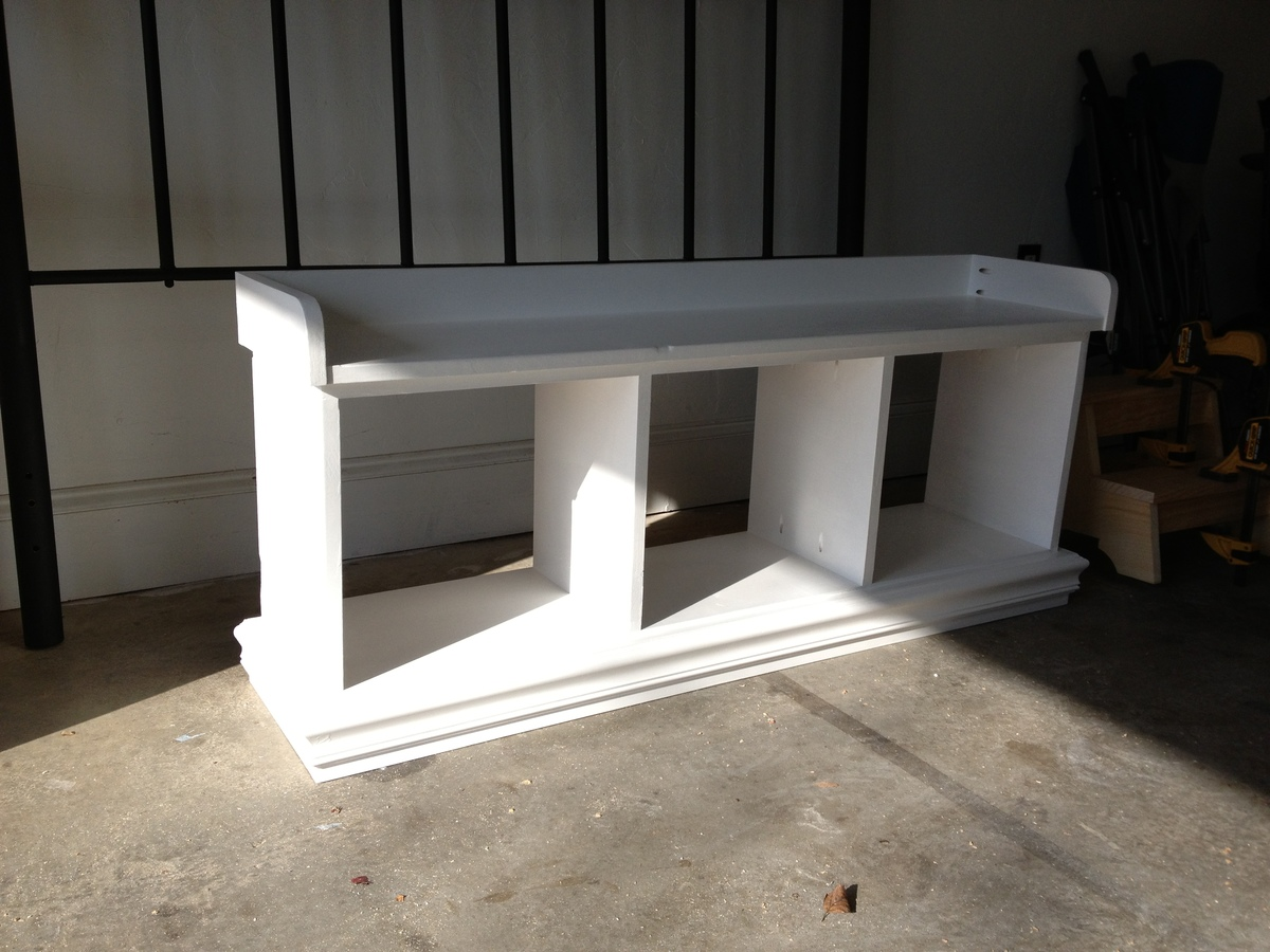 Ana White Footboard Cubby Bench Diy Projects