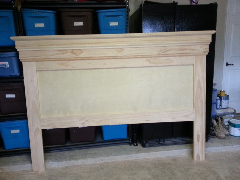 Ana White   Mantel Moulding Headboard   DIY Projects Additional Photos
