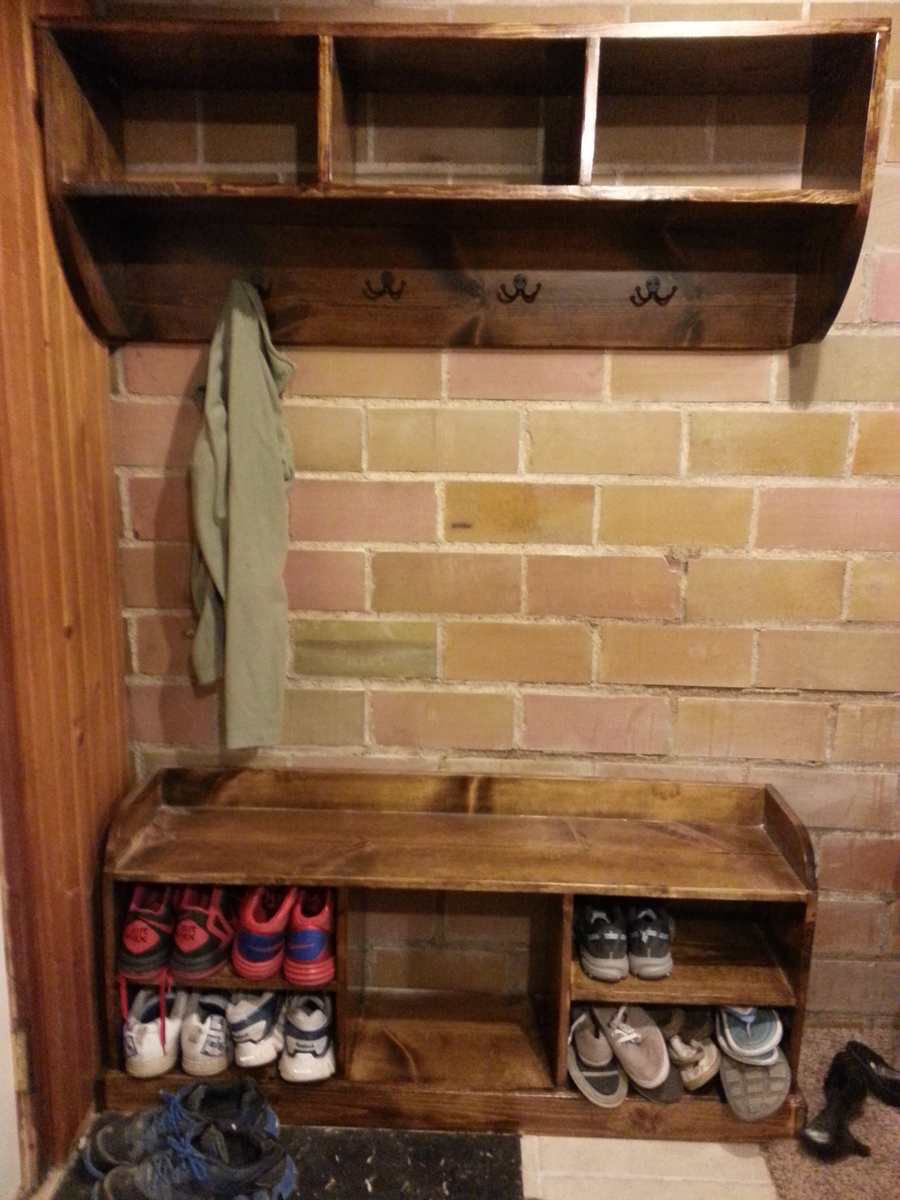 Ana White Entry Way Bench And Shelf Diy Projects