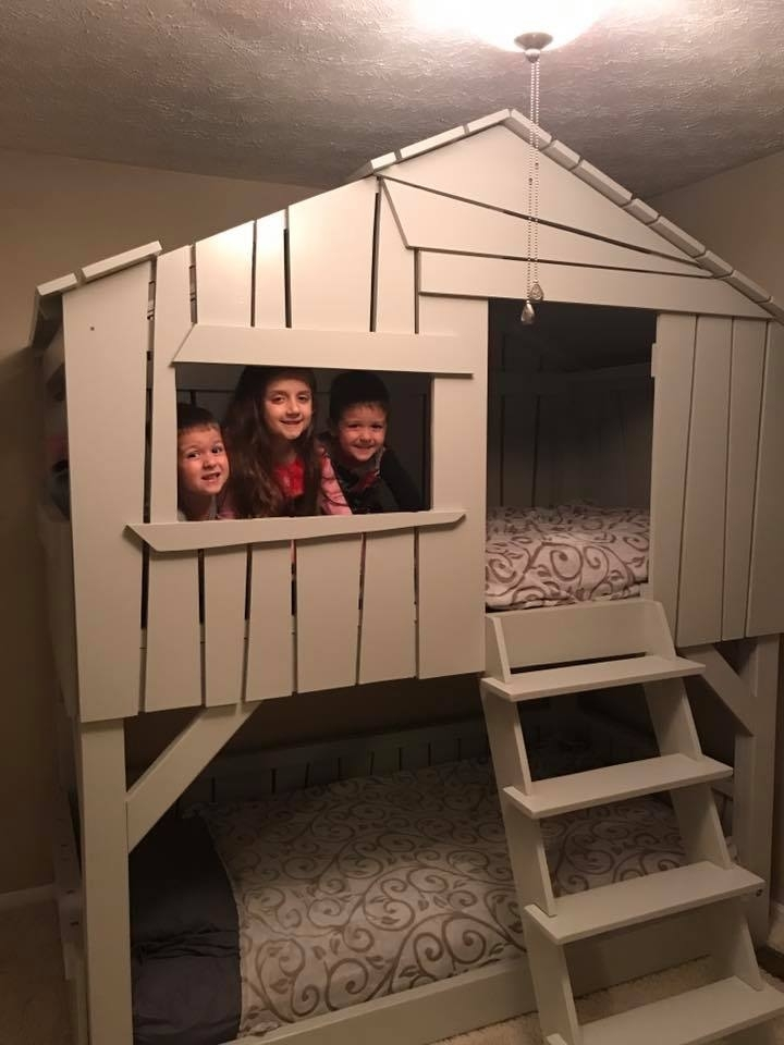 Ana White Modified Clubhouse Bunkbed Diy Projects