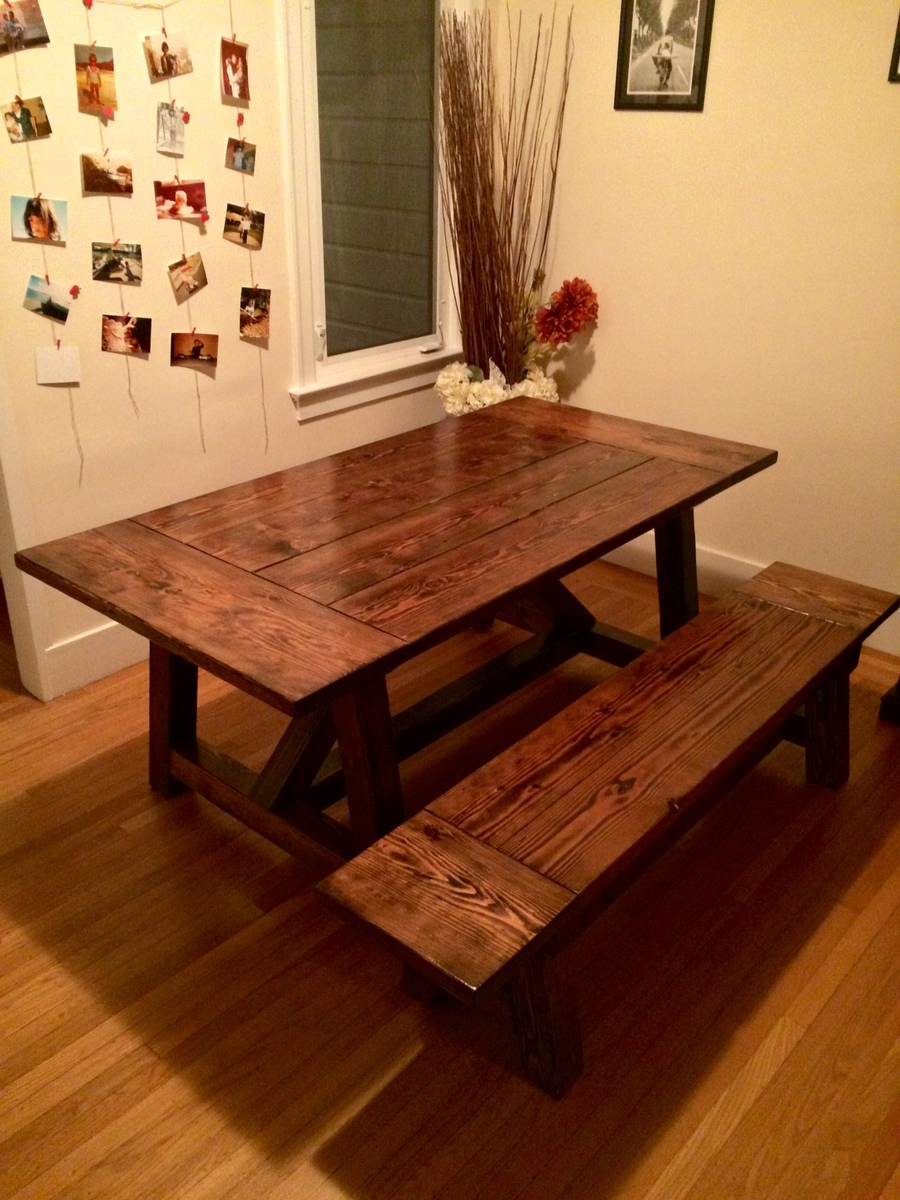 Ana White 4x4 Truss Table And Bench Diy Projects