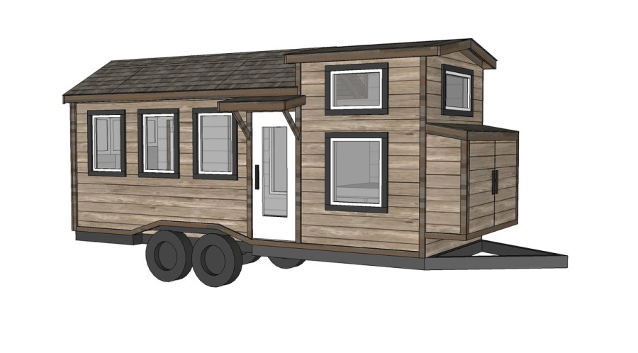 Ana White   Free Tiny House Plans   Quartz Model with Bathroom   DIY     Free Tiny House Plans   Quartz Model with Bathroom