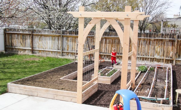 Building Garden Arbour