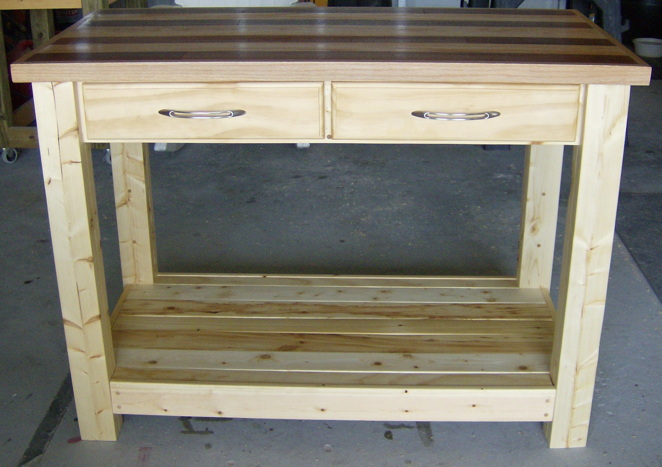 White Kitchen Island Butcher Block Top