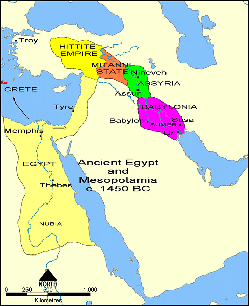 Scale Ancient Middle East Map