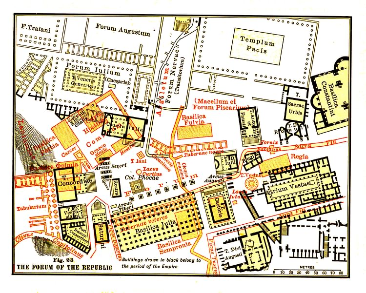 Map of the Roman Forum (Illustration) - Ancient History ...