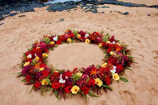 Wedding Florals Leis Flower Circles Ancient Hawaiian Weddings