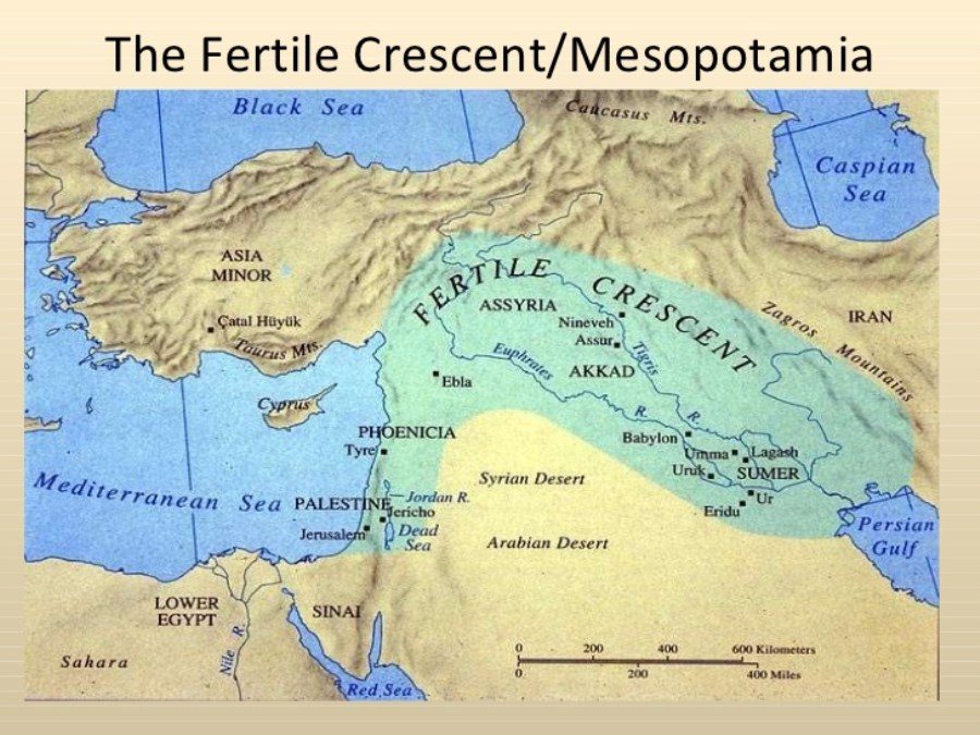 Ancient Middle Scale East Map