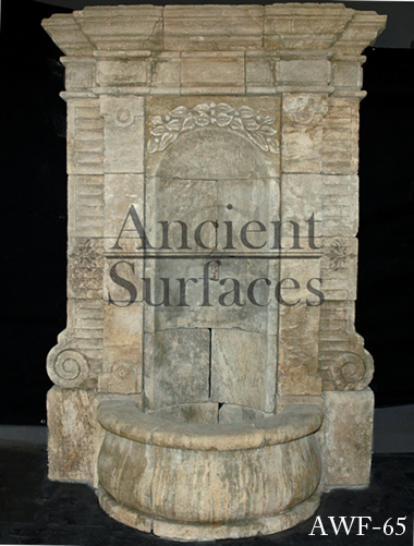 Page Two Of Our Antique Reclaimed Limestone Water Wall