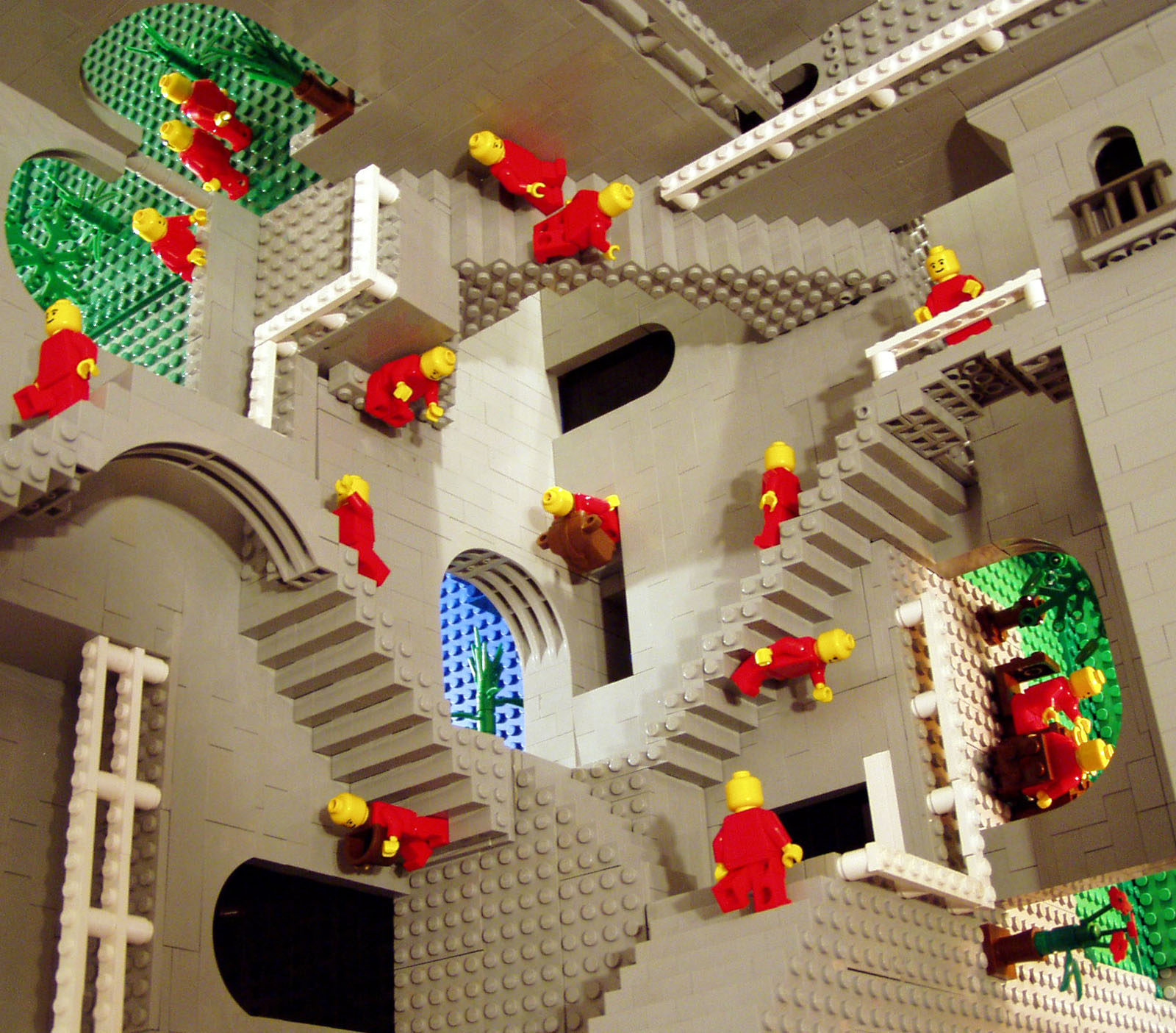 Escher s  Relativity  in LEGO