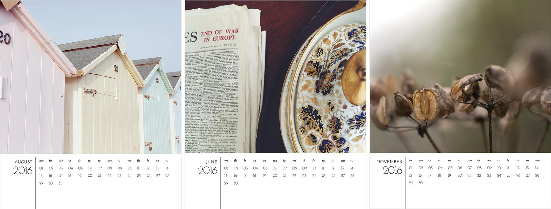 A free 2016 calendar template for Photoshop     Angie Muldowney 3 months of the free calendar template  2016 calendar template