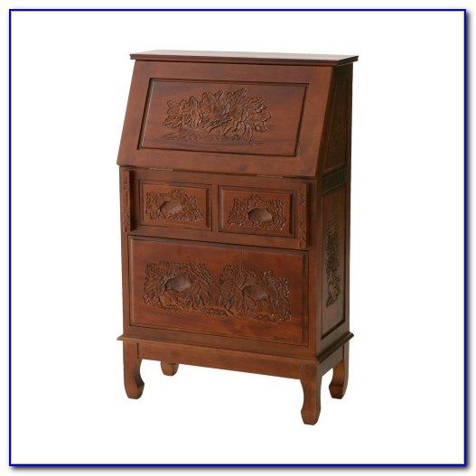 Hand Painted Secretary Desk With Hutch Desk Home