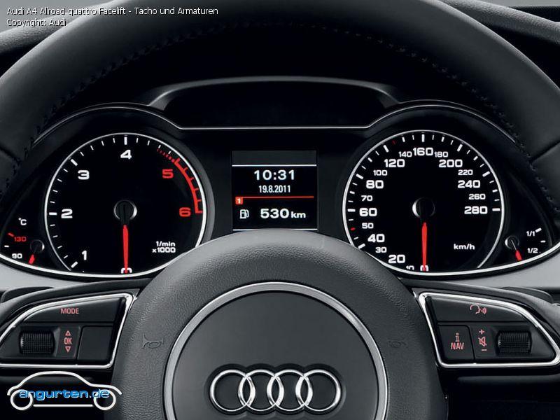 Foto Bild Audi A4 Allroad Quattro Facelift Tacho Und