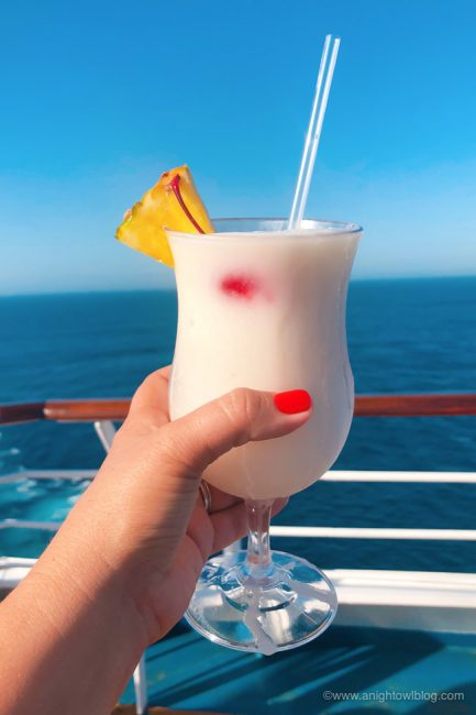 Best Drinks On Carnival Cruise Line Pina Colada A