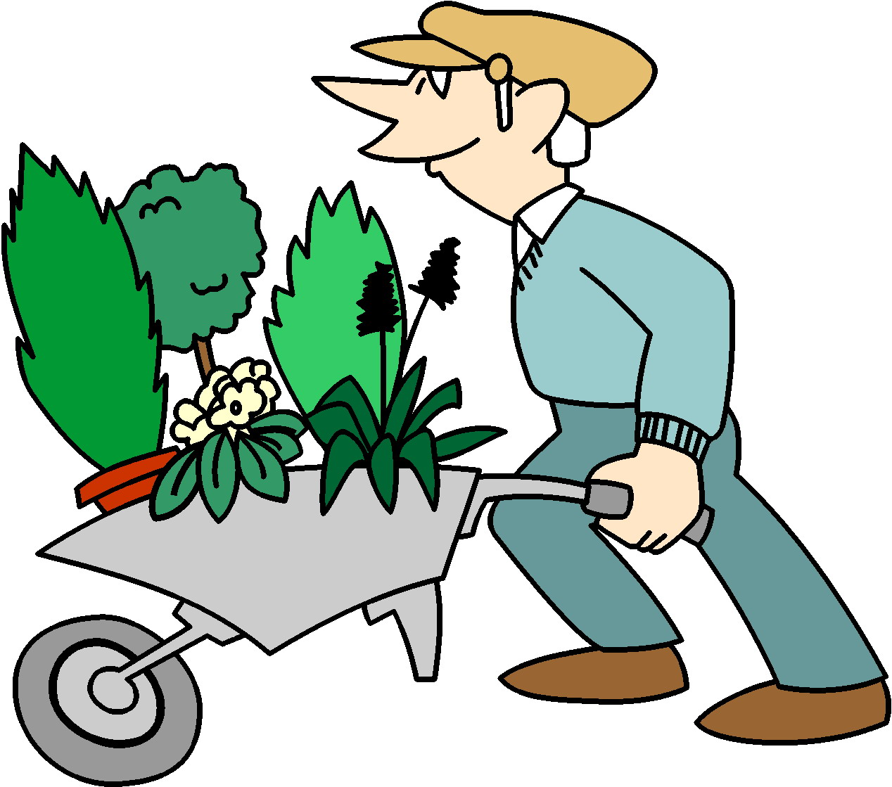 people gardening clip art - HD 1268×1119