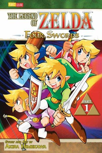 The Legend Of Zelda Four Swords Manga Anime Planet