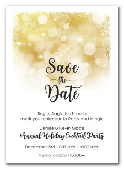 Save Date Cards Winter Wedding