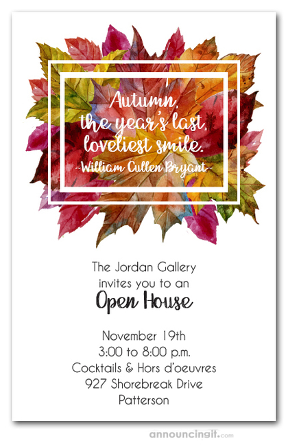 Beautiful Fall Wedding Invitations
