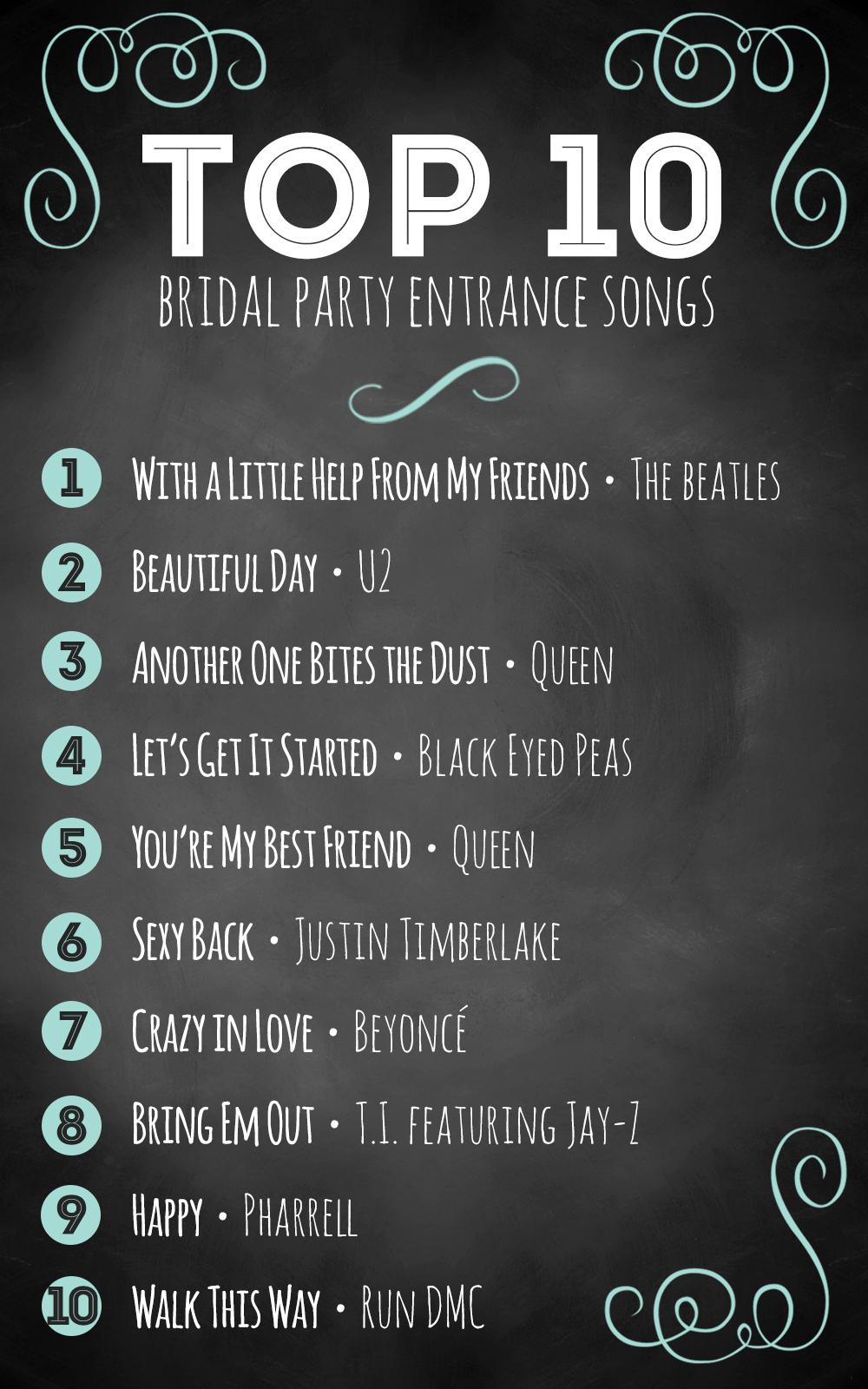 Popular Modern Wedding Songs