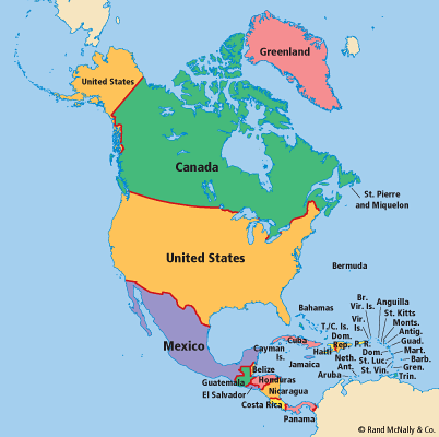 north america countries - 402×400