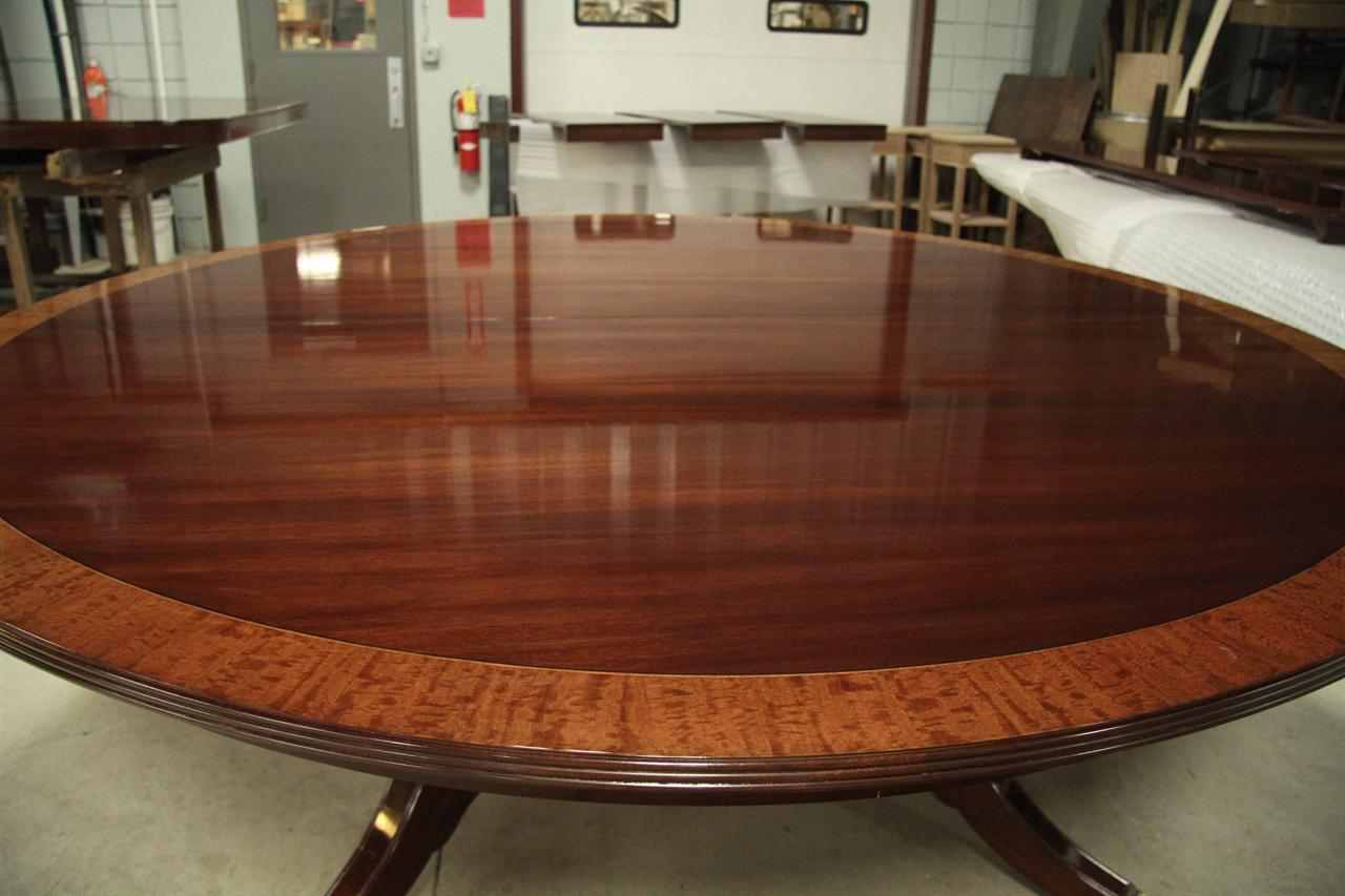 Large Round Dining Room Tables Leaves