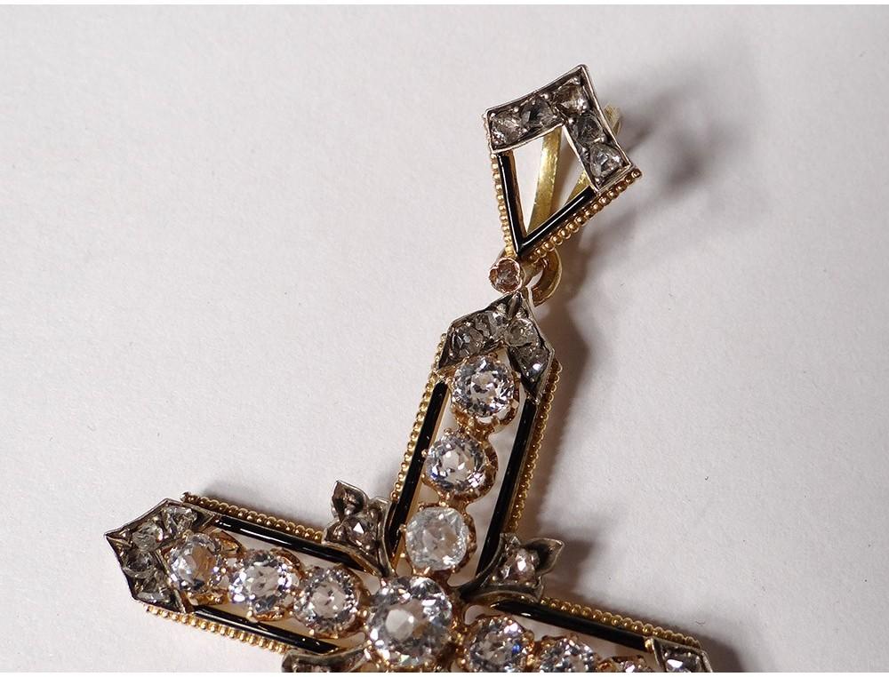 Tiny Gold Cross Pendant