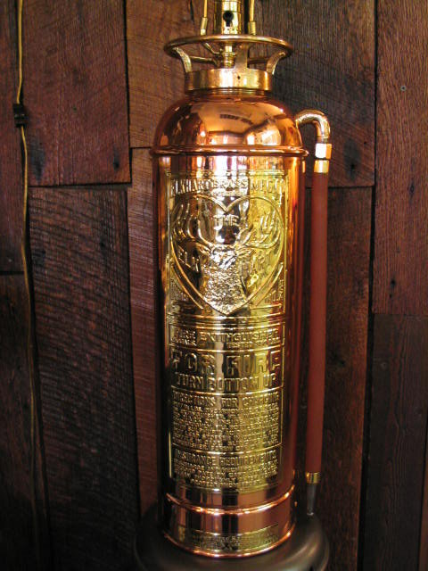 Fire Extinguisher Rare ELKHART Lamp For Sale | Antiques ...