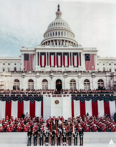 Inauguration at the U S  Capitol   Architect of the Capitol President Ronald Reagan s inauguration at the U S  Capitol 1981