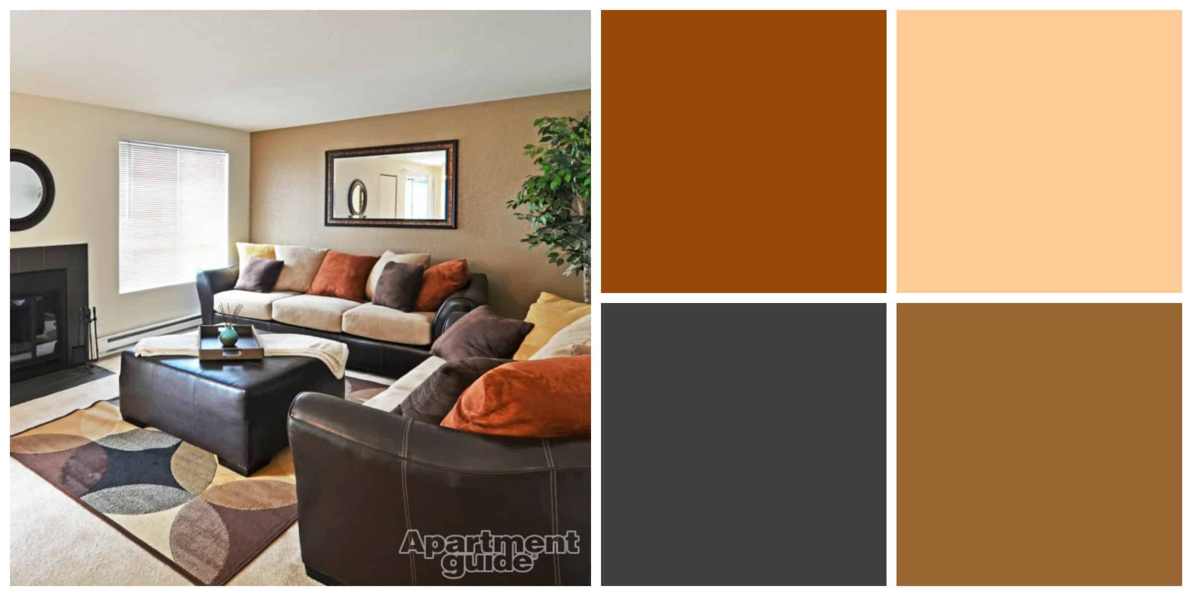 Family Room Dark Colored Wall