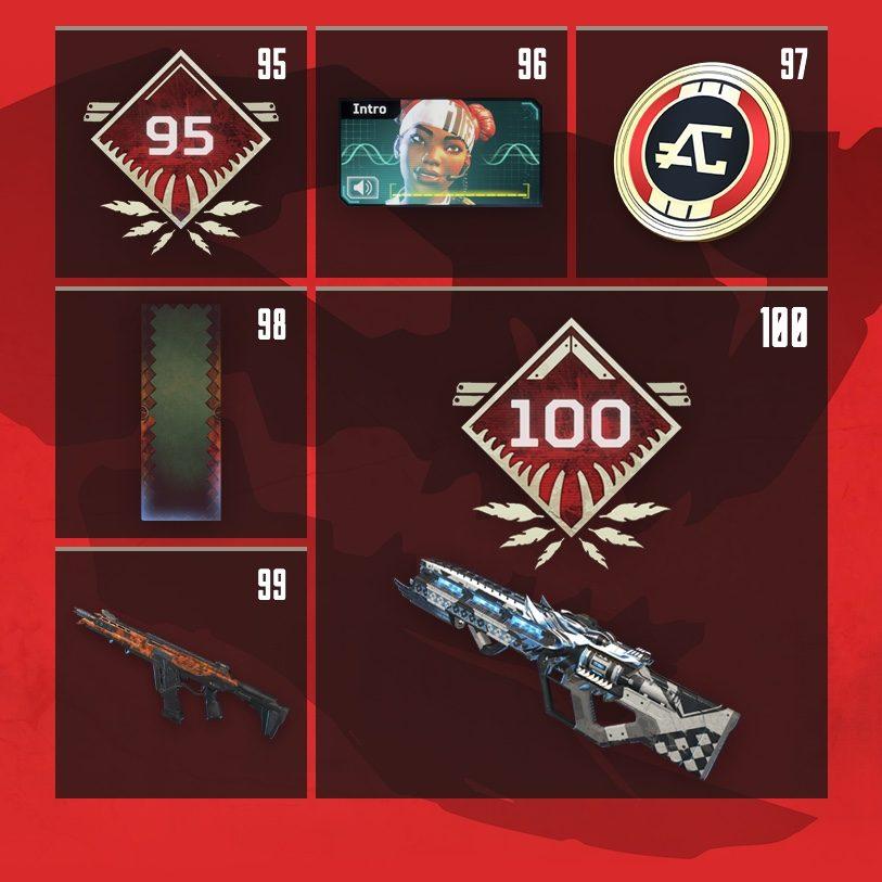 Apex Legends Season 1 Rewards List Level 1 To 100 Wild