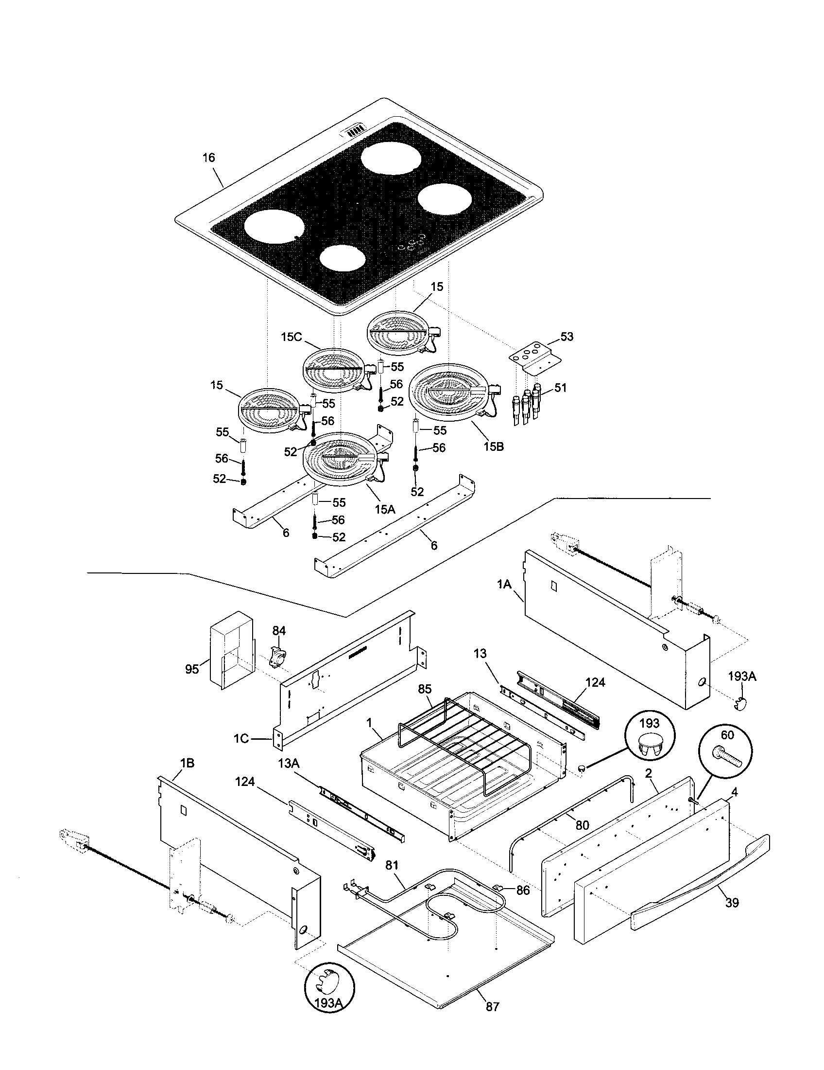 79046802992 elite electric slide in range top drawer parts diagram