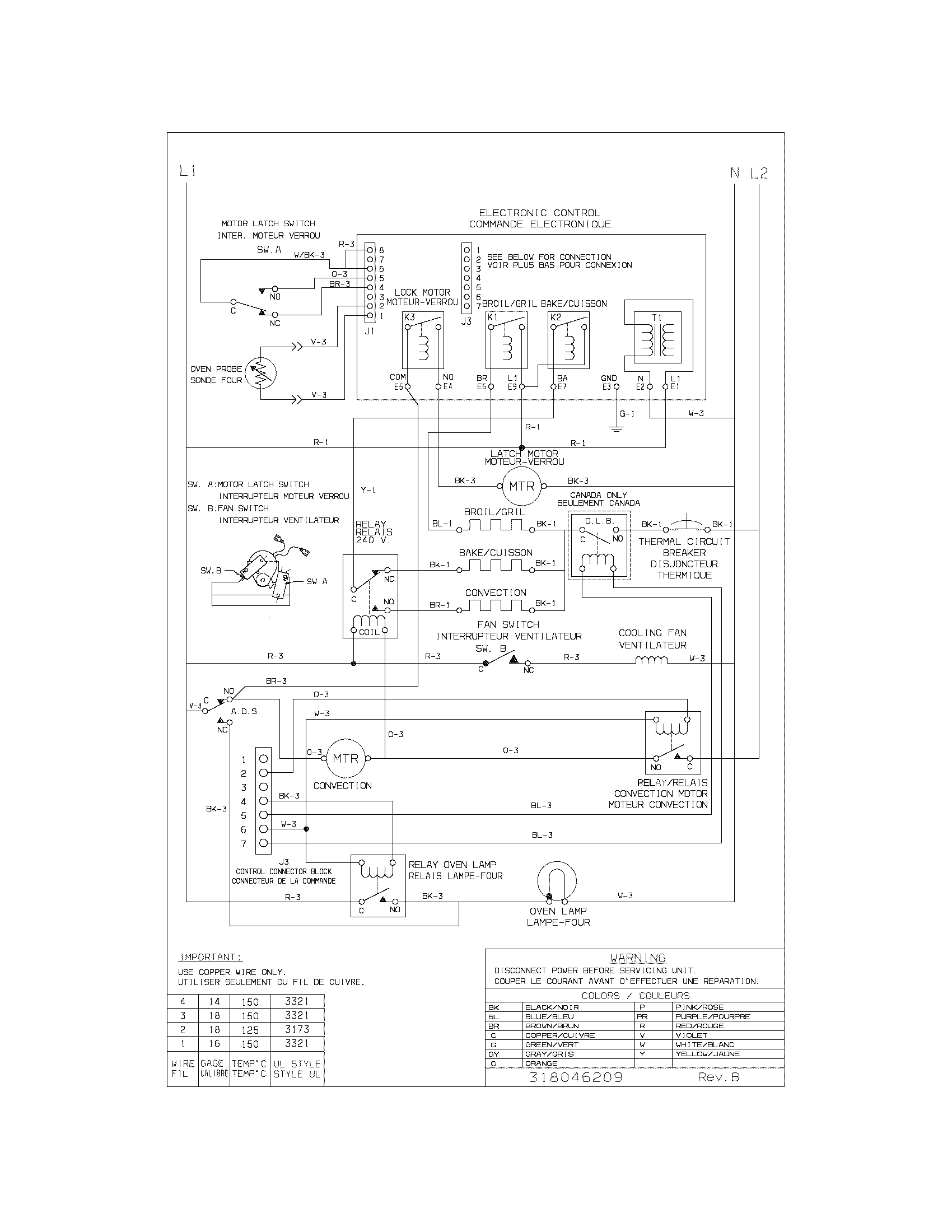 Cgeb27s7cb1 electric walloven wiring diagram parts diagram