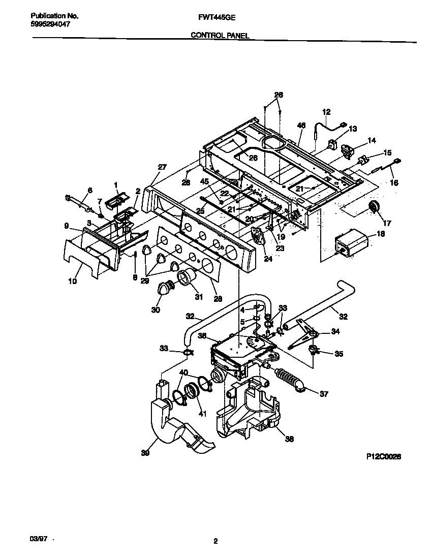Fwt445ges1 washer control panel parts diagram