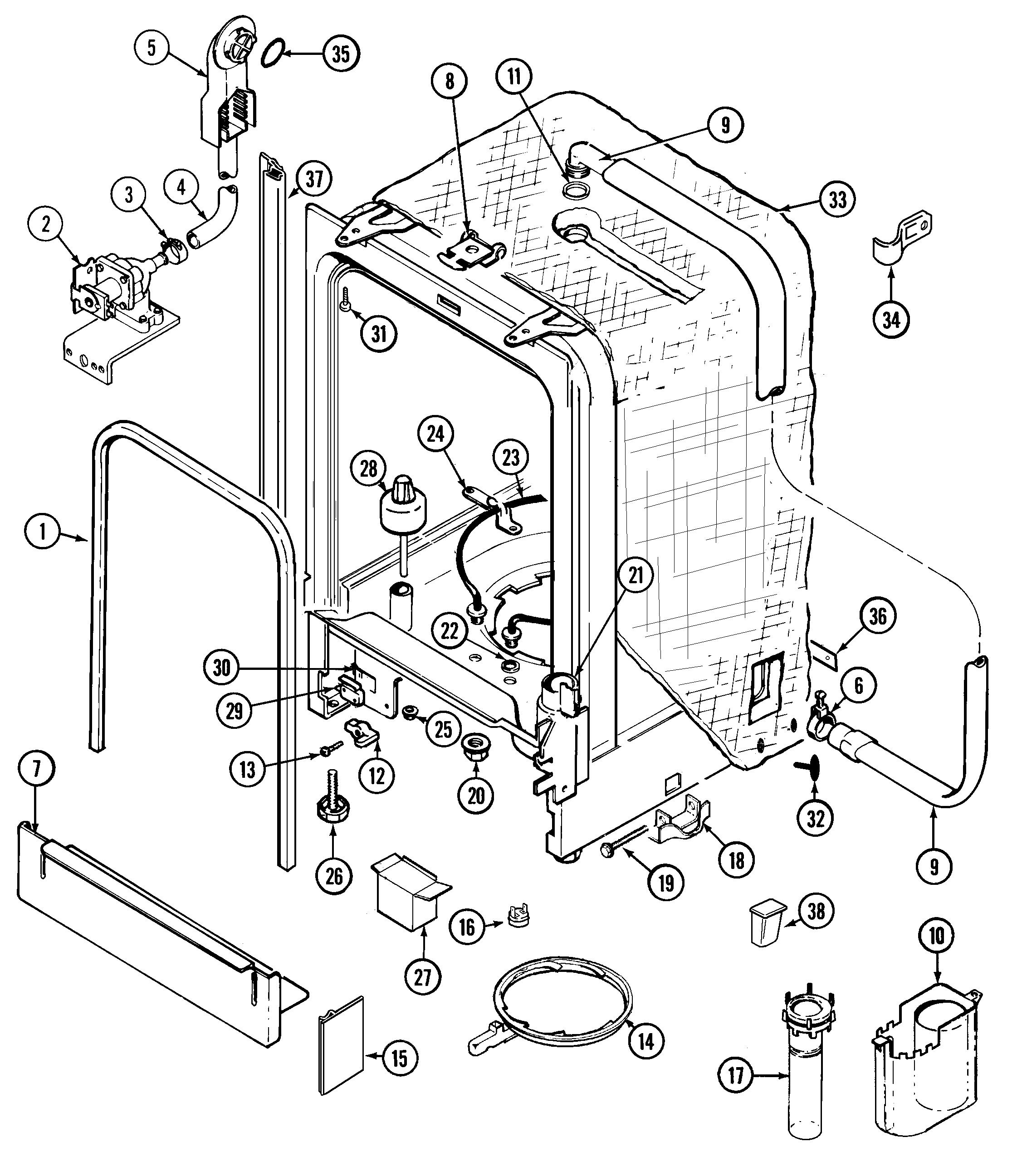 Maytag mdb6000awa timer stove clocks and appliance timers rh appliancetimers ge profile dishwasher parts diagram frigidaire dishwasher parts