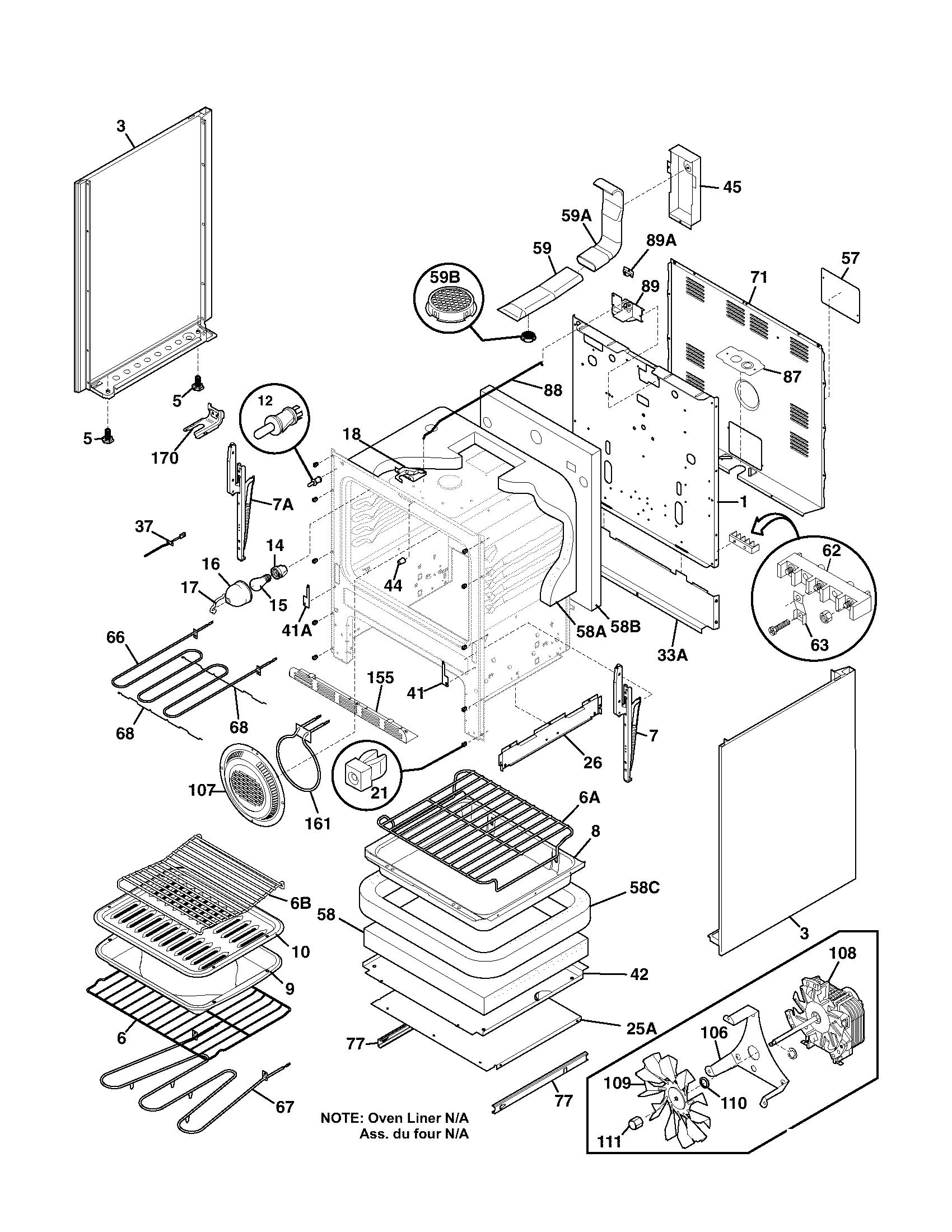 Frigidaire plef398ccc electric range timer stove clocks and wiring diagram