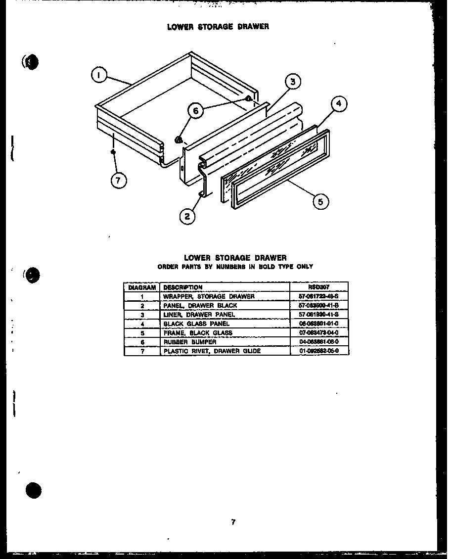 Rsd30 gas ranges lower storage drawern200e09 gas ponents parts diagram