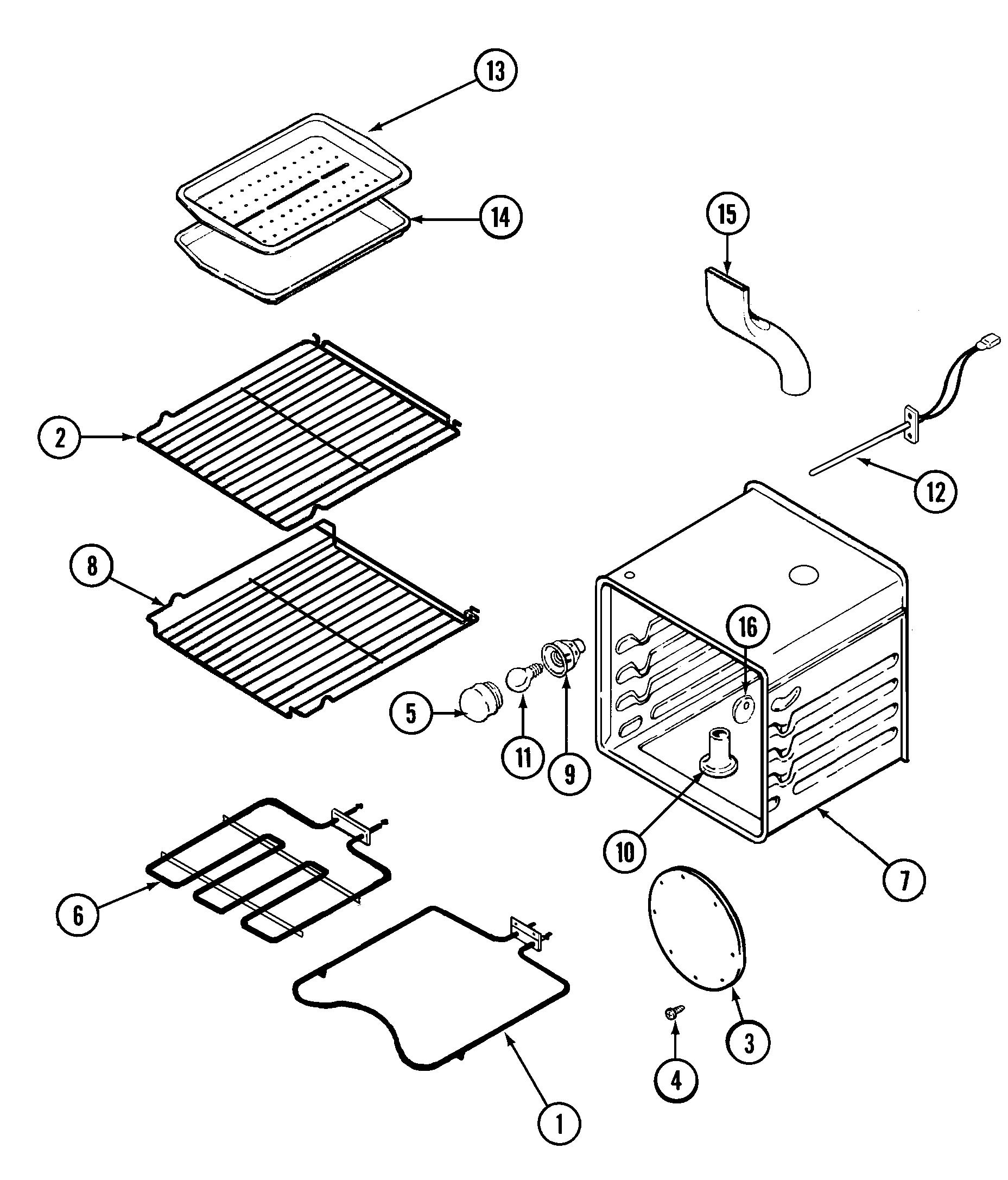 Sve47100 electric slide in range oven parts diagram