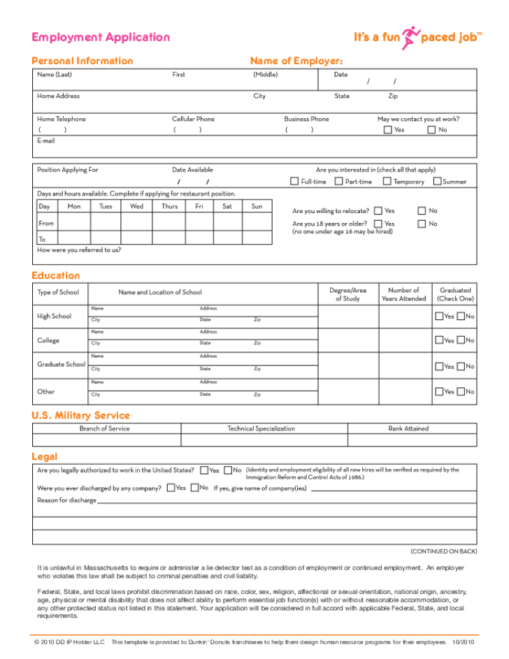 Forever 21 Print Application Pdf