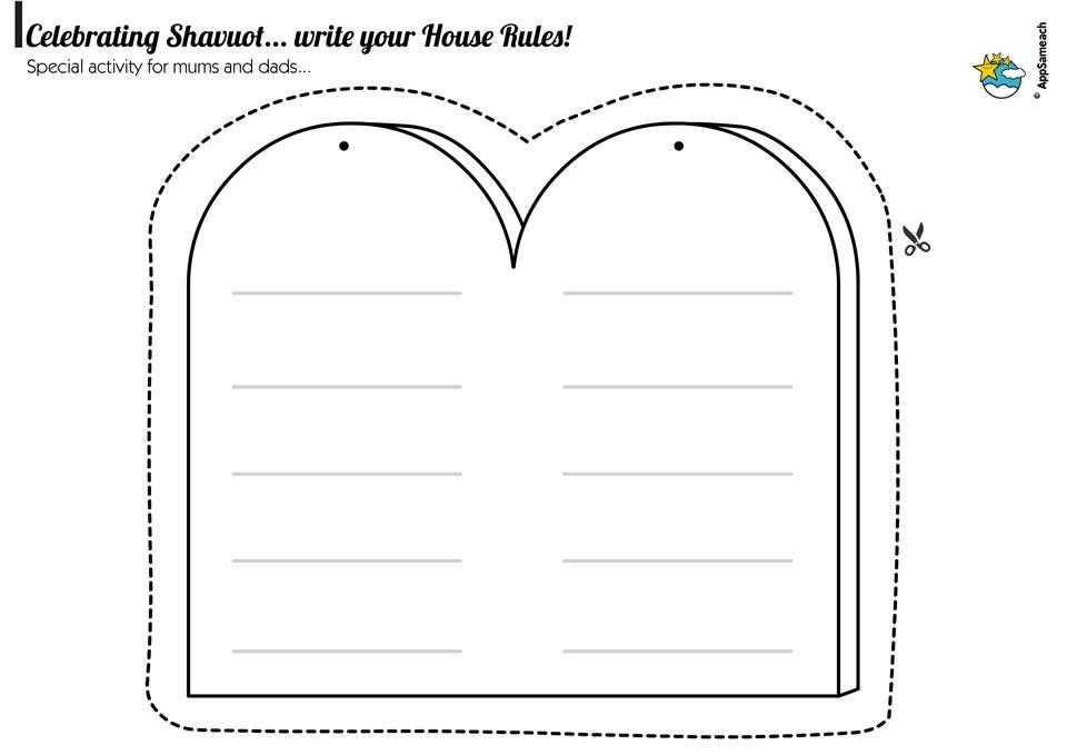 Commandment Tablet Template