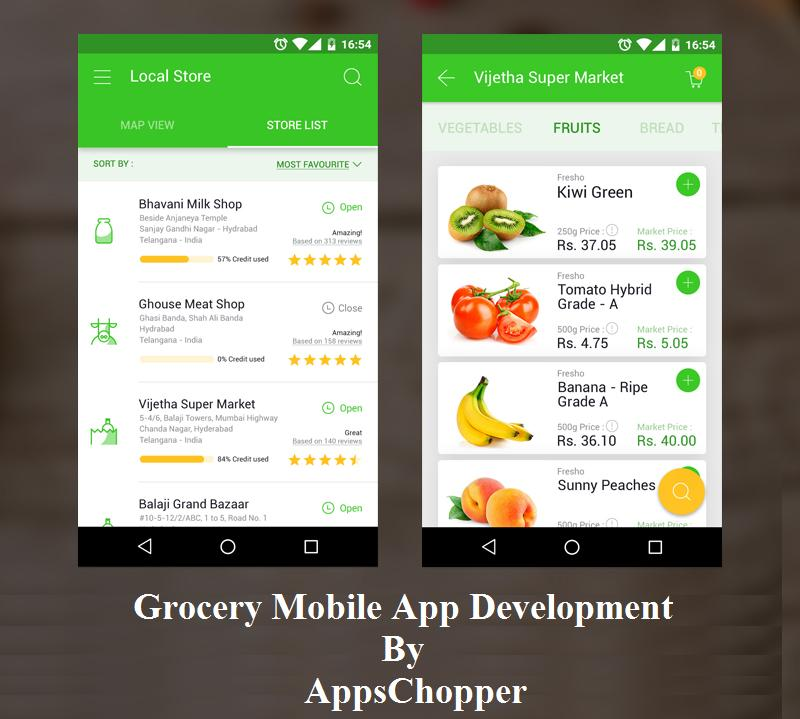 Mobile App Grocery Shopping