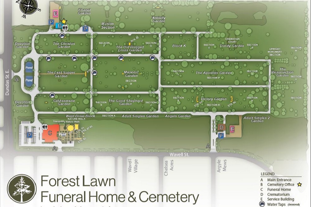 Cemetery In London On Forest Lawn Funeral Home Amp Cemetery