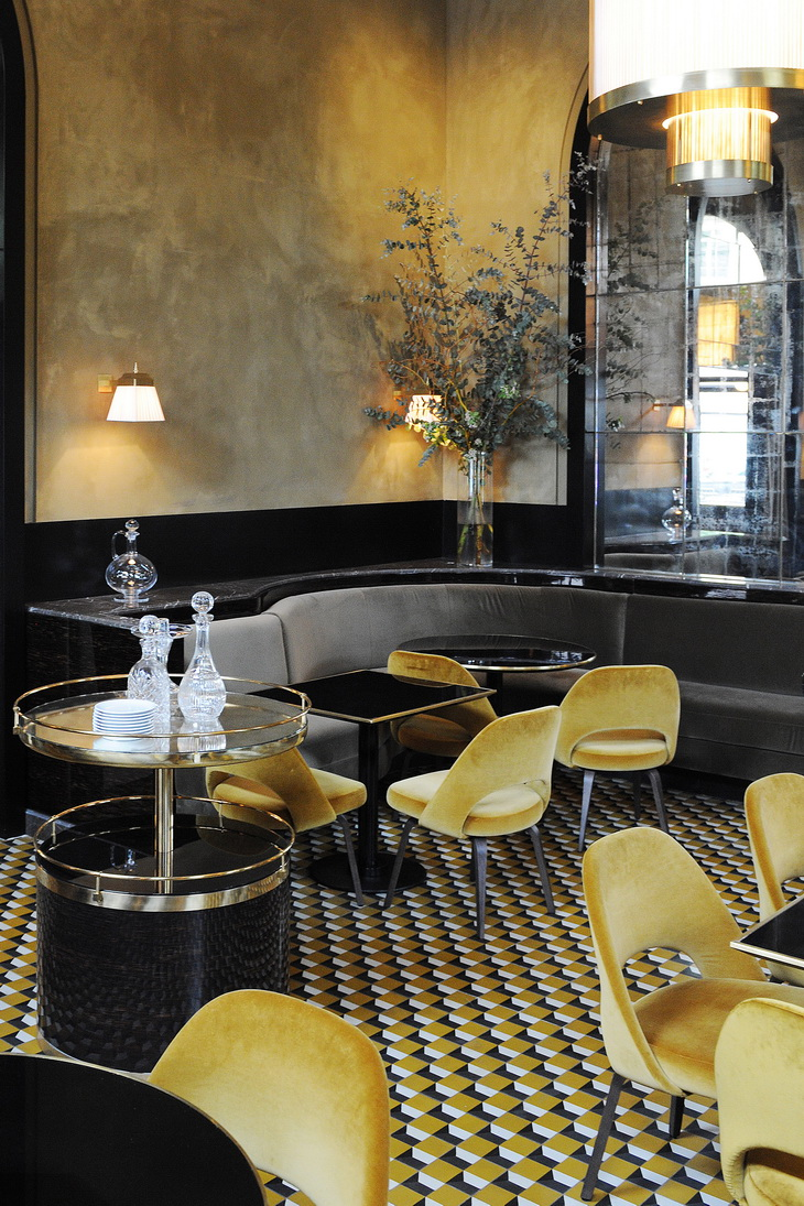 Renewal Of Le Flandrin Restaurant In Paris Redesigned By