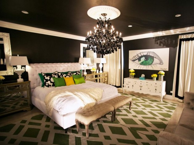 23 Dramatic Black Ceiling Ideas