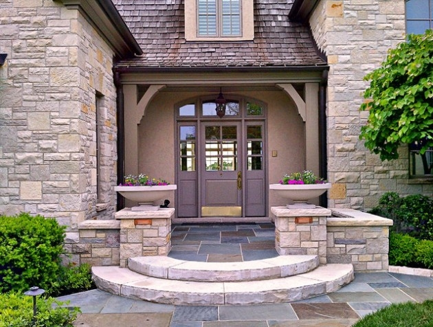 23 Creative Ideas Of Traditional Outdoor Front Entry Steps | Home Entrance Steps Design | Exterior | Sophisticated | Angled | Bungalow Entrance | Concrete