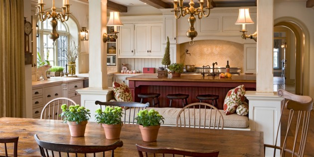 15 Lovely Farmhouse Kitchen Interior Designs To Fall In Love With