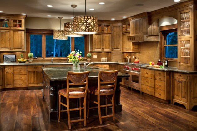 Small Kitchen Design Rustic