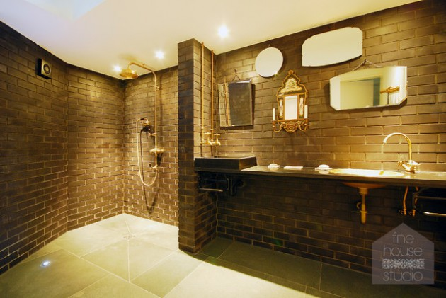 18 Excellent Industrial Bathroom Designs With Great