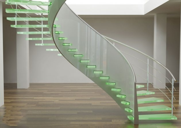 15 Stunning Glass Spiral Staircase Designs That You Shouldn T Miss   Spiral Staircase With Glass Railing   Metal   Residential   In India Staircase   Contemporary Glass   Thin Glass